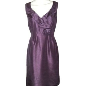 Tahari Plum Bridesmaids Formal Sleeveless Dress
